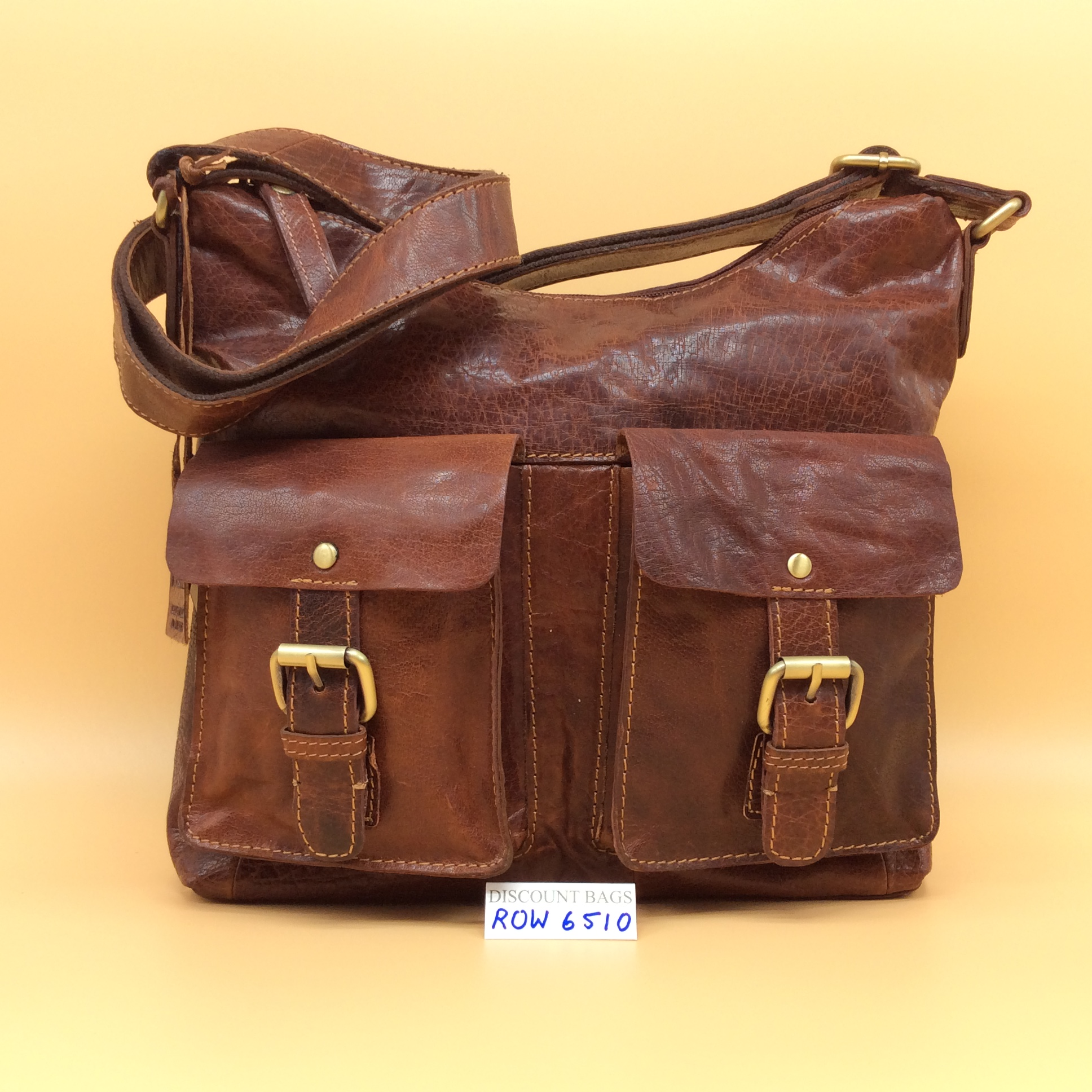 cd5a37b454 Rowallan Leather Bag. 6510. Cognac - Discount Bags and Leather Goods
